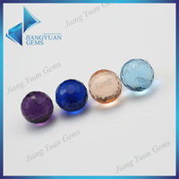 High quality stock price colorful plated faceted roundel beads in bulk