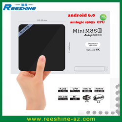 Reeshine New Amlogic S905X Mini m8s II android 6.0 marshmallow tv box kodi 16.1 mini m8sii 2gb tv box s905x