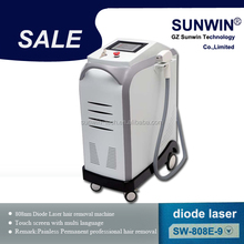 3 years warranty Germany service center diode laser hair removal/SHR hair