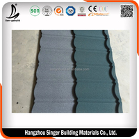 Excellent Roofing Shingles for Sale, Green Colors Alu-zinc Stone Coated Steel Roofing Shingle Tiles