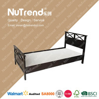 Solid wood full size king bed frame