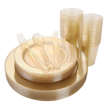 Disposable Wedding Tableware Dinnerware Set Luxury <strong>Plates</strong>