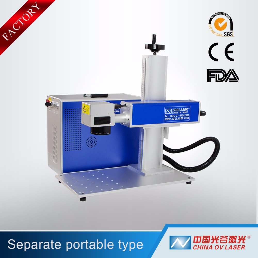 Hot sale CE carbon steel iron carving fiber laser marking machine price 20w printing logo