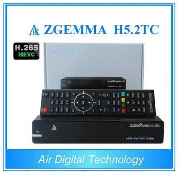 2017 New Product ZGEMMA H5.2TC FTA Combo Receiver HEVC/H.265 DVB-S2+2*DVB-T2/C Dual Tuners From Air Digital
