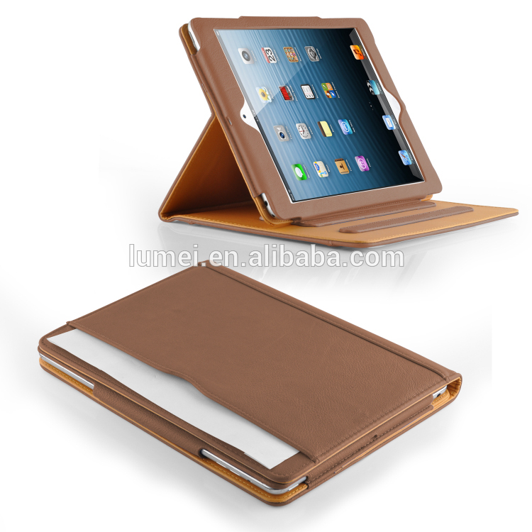 Strong Shock Proof Magnetic pu Leather Protect Flip Case Cover For Apple Ipad 5 , For Ipad case with stand function
