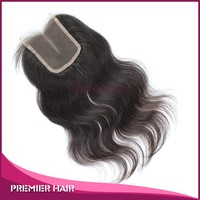 10inch Wholesales Malaysian hair swiss lace Closure Middle part clip in top closure