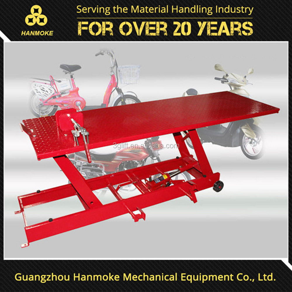 portable mini hydraulic scissor motorcycle lift jack with low price