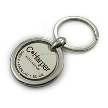 Custom Souvenir gifts round metal spinning keychain