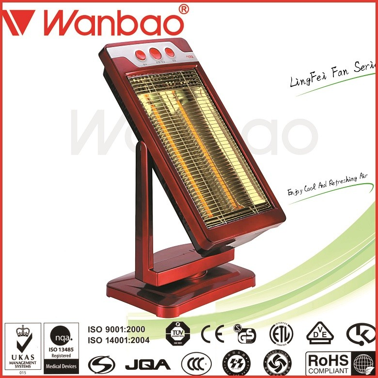 1200W Room tubular electric Carbon infrared heater with 2 Carbon tubes metal Material