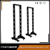 19 inch 2 post metal frame floor standing 45u server open rack