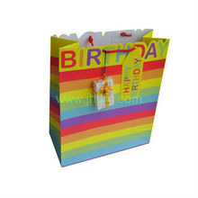 Birthday gift paper package