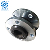 DN80 BS thread union double bellow epdm flexible rubber connector