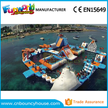 Inflatable giant water park aqua aprk inflatable island subic