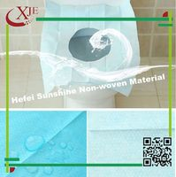 High quality cheap disposable white fabric toilet seat cover