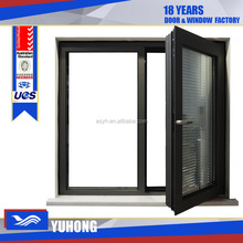 Aluminum casement windows with built in blinds