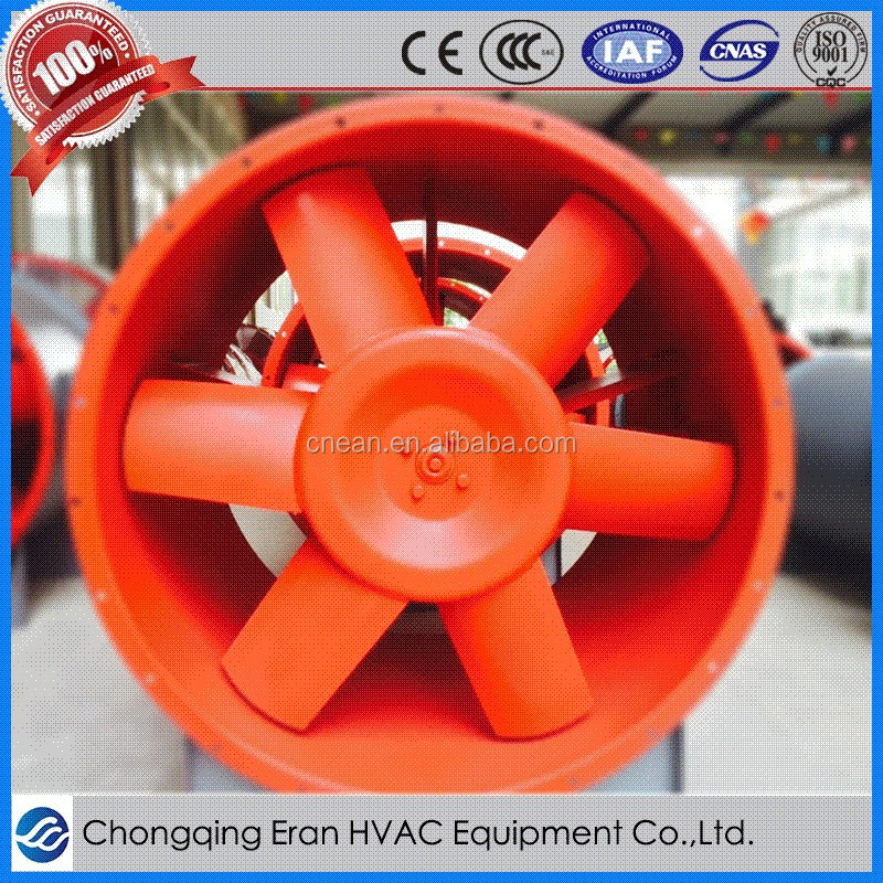 Building smoke ventilation system exhaust mechanical axial blower