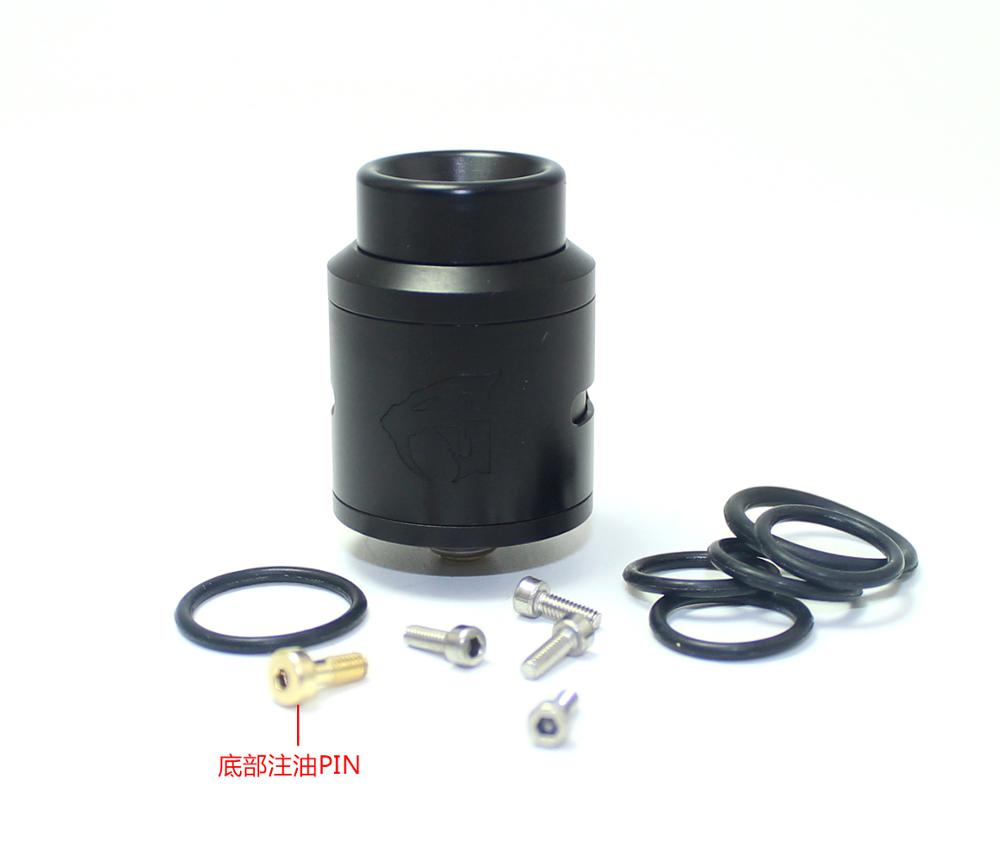 SXK 1:1 clone black 528 goon v1.5 24mm rda phenomenon atomizer expromizer with bf pin POM drip tip & Skill rda in stock