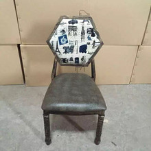 theme restaurant table chair of European style retro chair for sales
