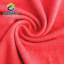 Custom breathable pure color organic knit linen jersey fabric for garment