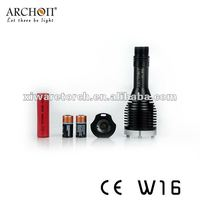 2013 hot sale high quality 340lumens archon Underwater magnetic switch design cree U2 mini scuba diving light W16S