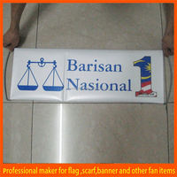 PET hand held promotional roll up banner