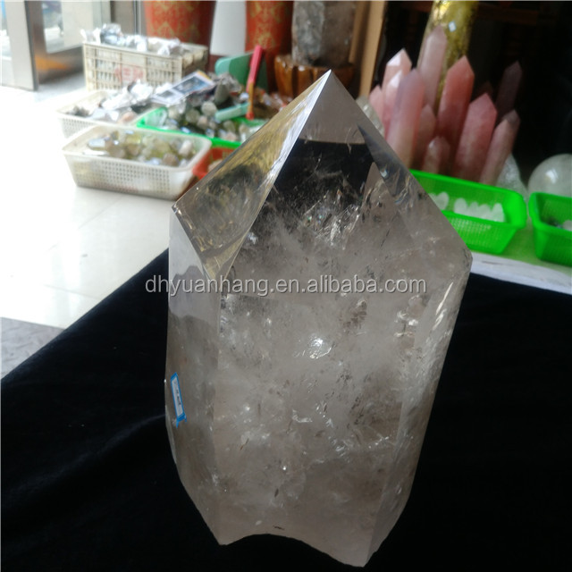 Big natural rock clear quartz crystal tower crystal healing wand points