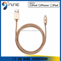low price china mobile phone MFI Certified braided 2 in 1 USB cable for Apple mfi usb cable