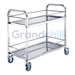 2017 Accept Customized Stainless Steel Hotel Service Cart Trolley Buffet Car Restaurant Wine Trolley