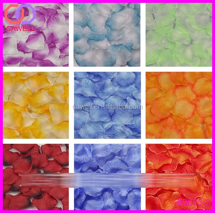 Wholesale multi colored wedding silk fabric artificial for Multi colored rose petals