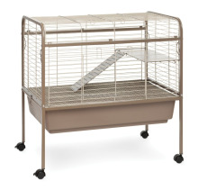 Cheap Iron Wire Small Animal Cage with wheels and stand