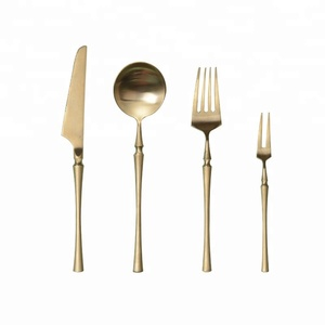 Gold Flatware Silverware Set, Stainless Steel Cutlery Tableware Set for Home Kitchen or Restaurant