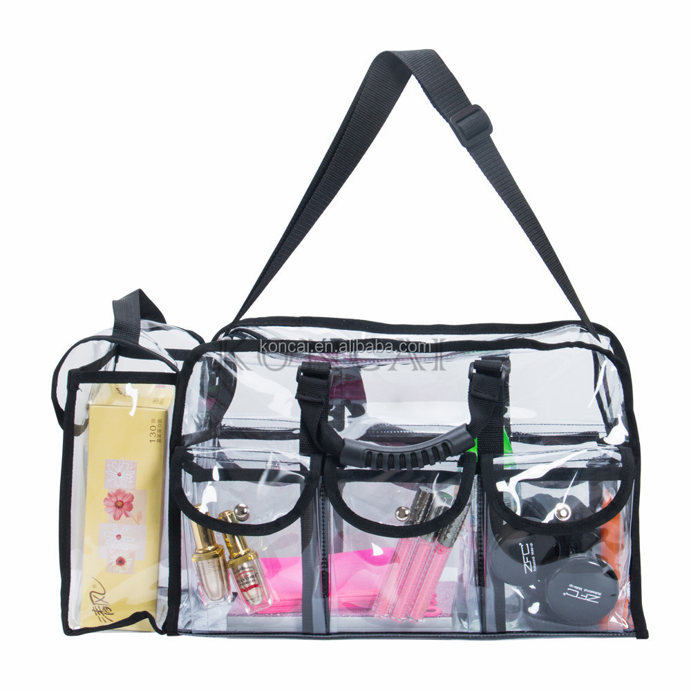 Lady Cosmetic PVC Tote Bag With Zipper
