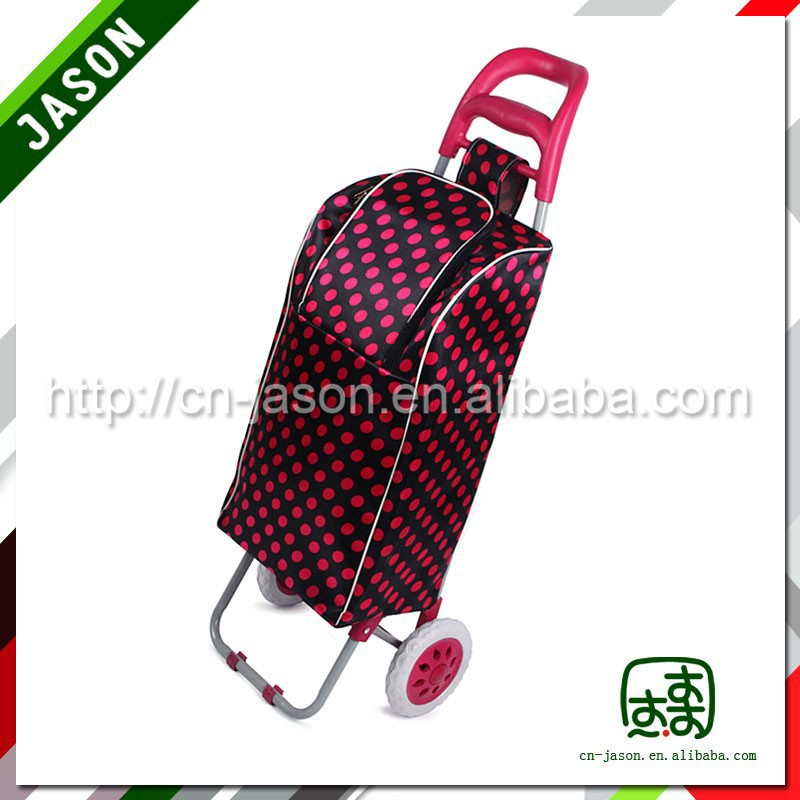 fold up luggage cart durable shopping bag with wheels