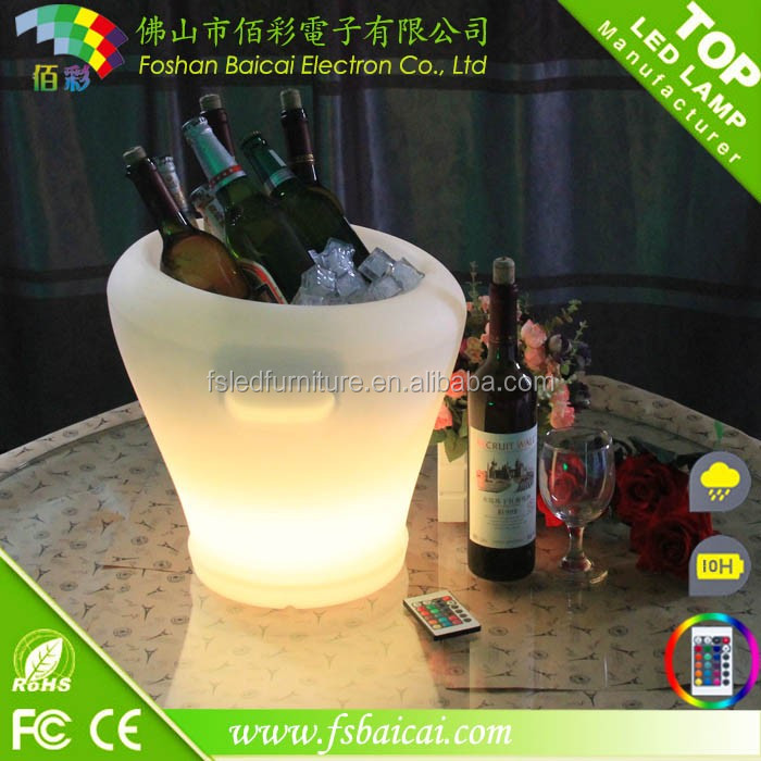 4.2V bar nightclub LED color changing wine ice bucket