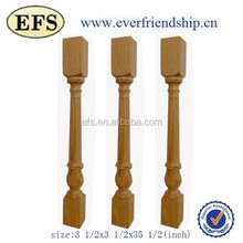 antique decorative solid wooden fence posts