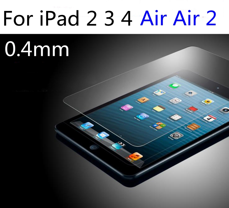 "Premium Tempered Glass Screen Protector For iPad 2 3 4 Air 2 Pro 9.7"" Air2 0.4mm 9H Toughened Protective Glass Film"