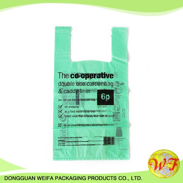EPI Biodegradable Plastic Material Snail Face T-Shirt Shopping Bag