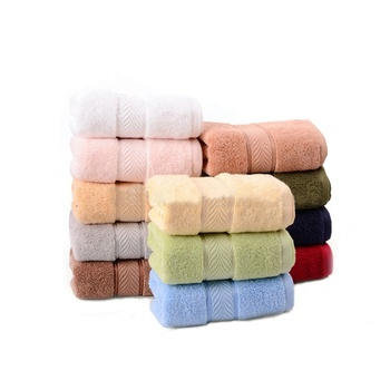 Best Hotel Style Supplies High Quality 12 weak Twist Solid Color Face towels