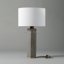 2017 Topdesign Concrete desk Lamp white fabric cylindrical base Hotel Cement home decoration modern Table Lamp