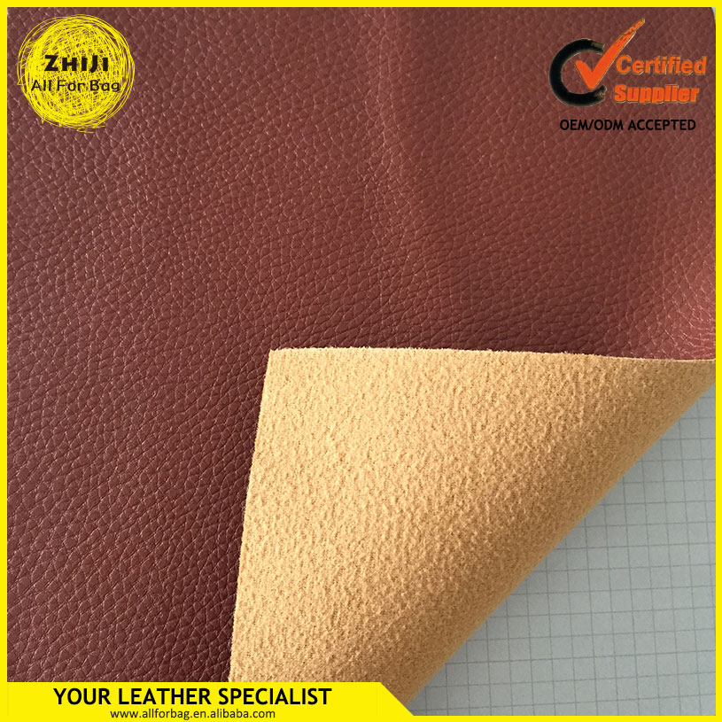 Solid fabric customized synthetic leather pu bag material for bags