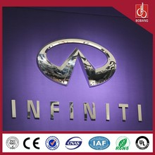 Standing Outdoor Luminated LEDs lighting mental thermform LED car brand logo names/lighted car emblem