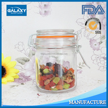 hot sale silicone ring 150ml clip top glass jar for food FDA SGS