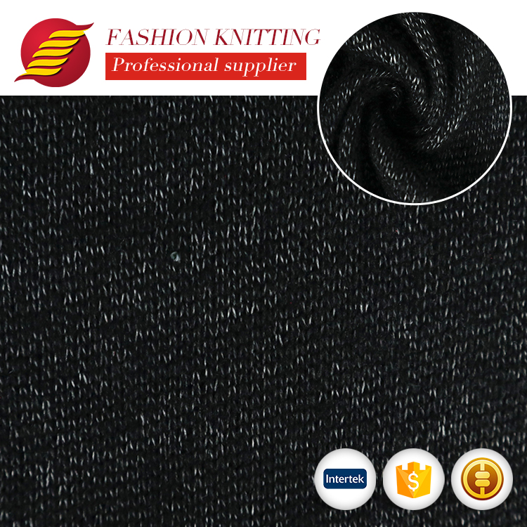 wholesale cheap <strong>fashion</strong> loose knitting 100 percent polyester hacci knit fabric for sweaters