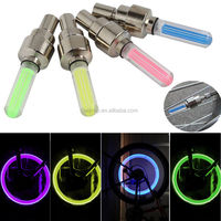 LED Lamp Flash Tyre Wheel Valve Cap Light For Car Bike Bicycle Motorbicycle