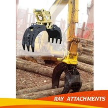 hydraulic excavator rotating grapple, grab for waste metal
