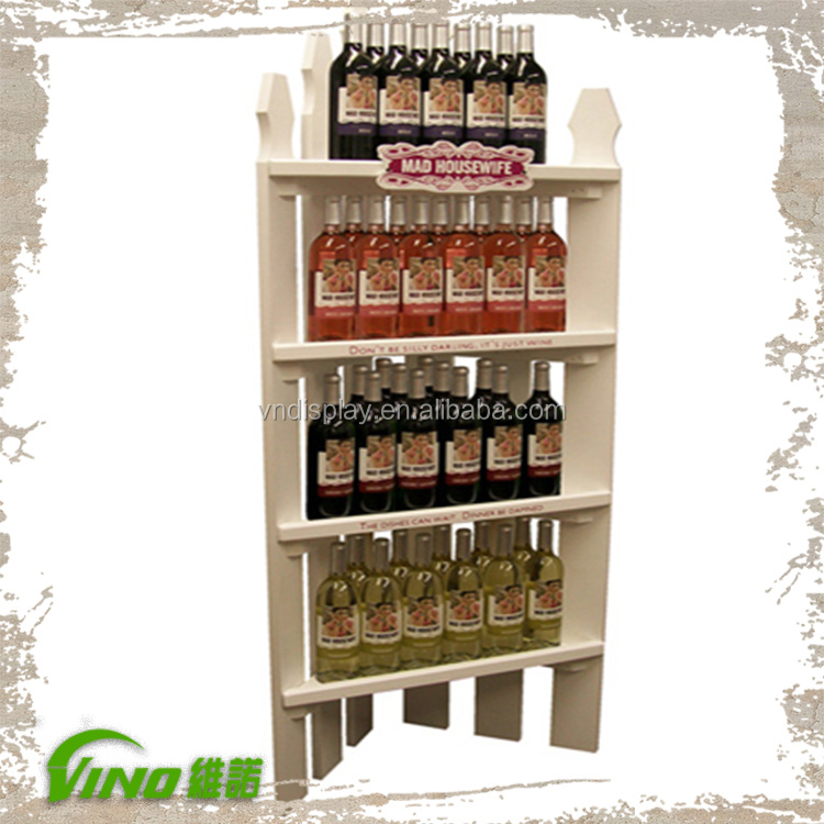 New Design DIY Wooden Corner Shelf Floor Display , supermarket shelf floor display , advertising display supermarket shelf rack