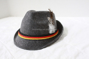 German Alpine Peter Pan Hat Feather Male/ Female oktoberfest hat