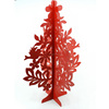 Handmade cheap ornament colored wooden decoration laser cut wood carving christmas tree