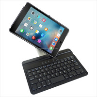 Original design Exact 360 Degree Rotation Bluetooth Keyboard with Aluminum Shelf for IPAD MINI4