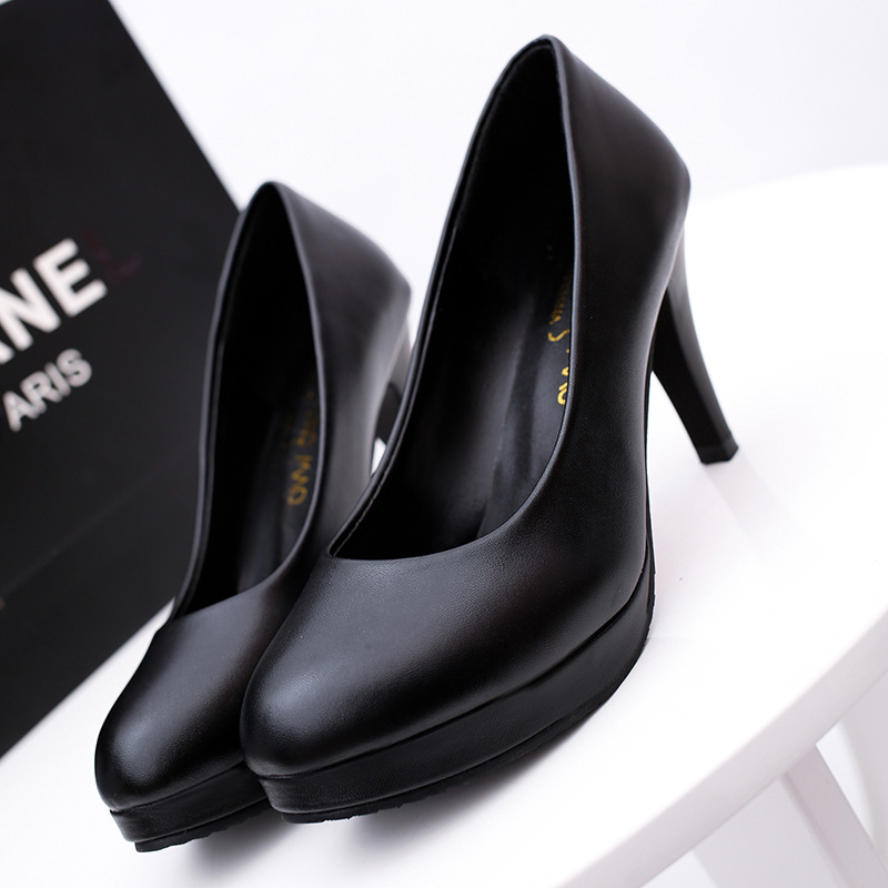 ladies fancy shoes black platform shoes women high heels 2019